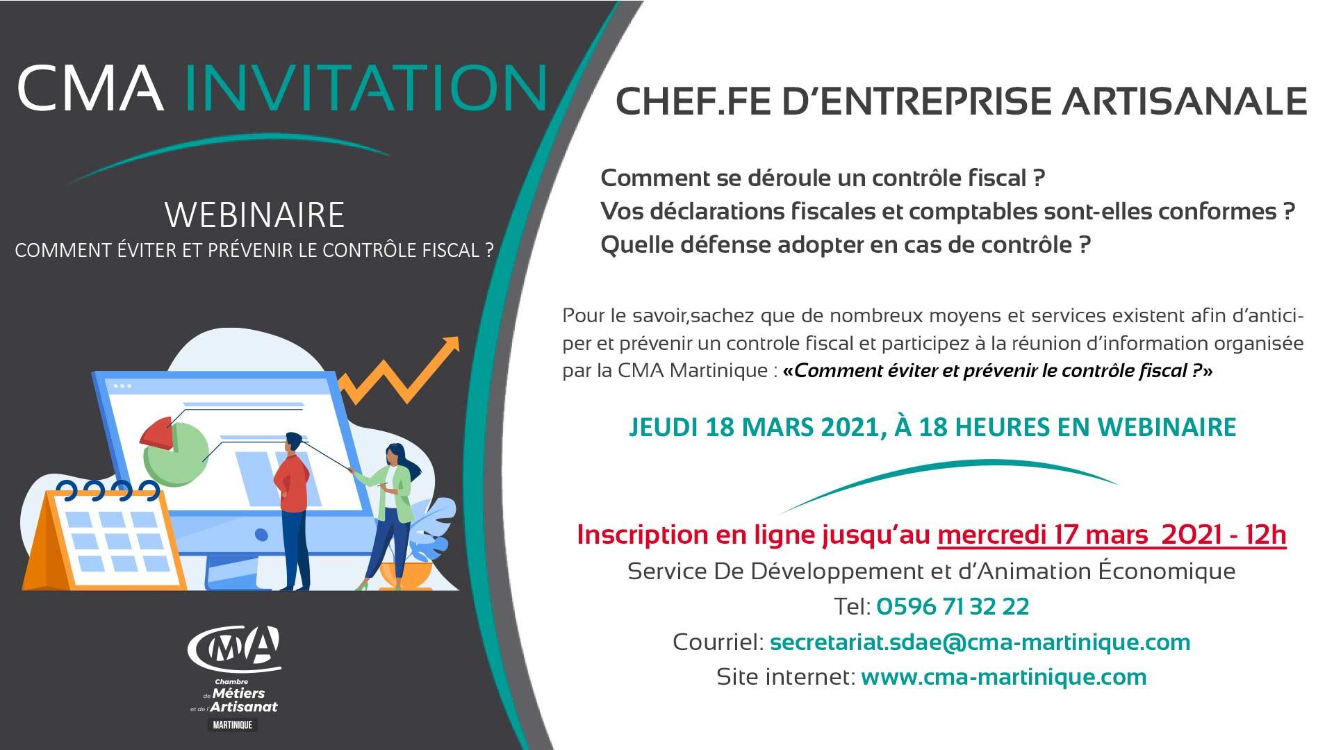 Invitation réunion d'information - Controle fiscal