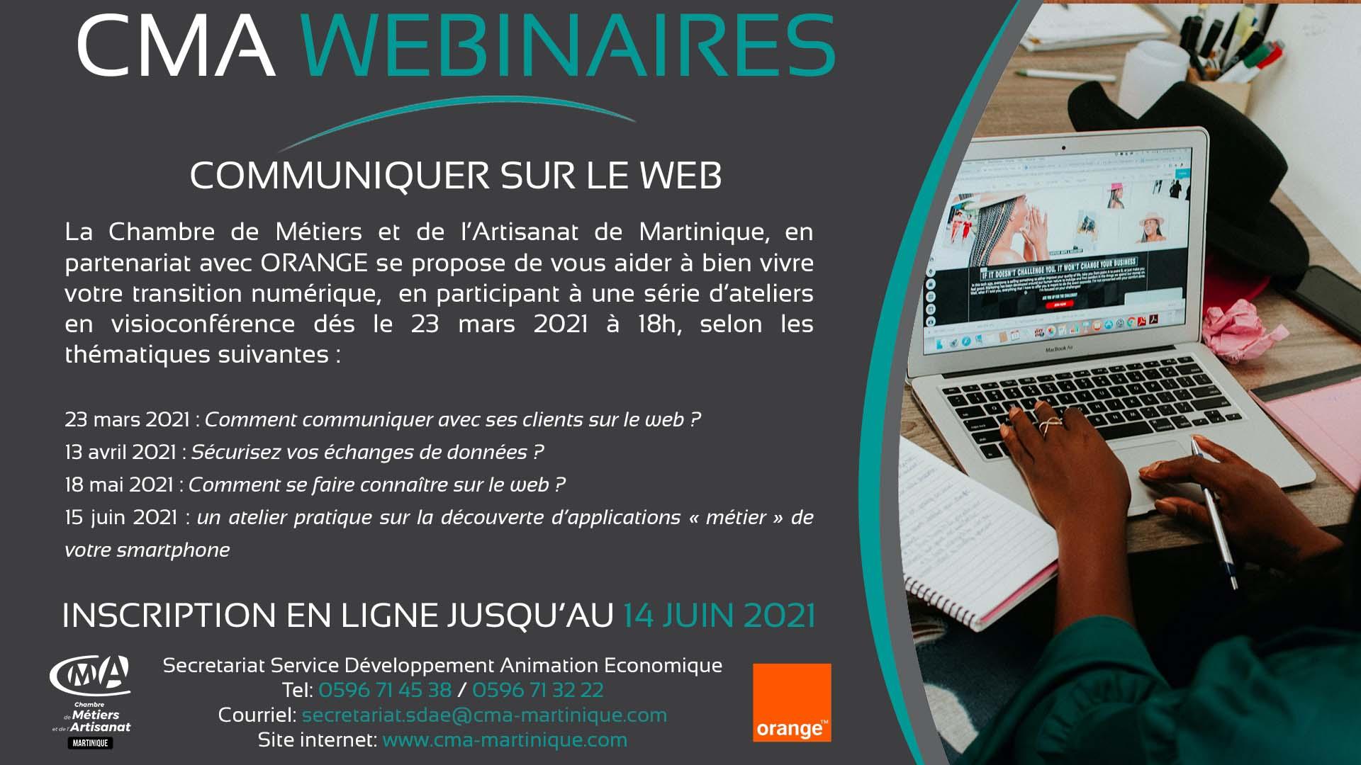 CMA Martinique Atelier numerique 14 06 2021