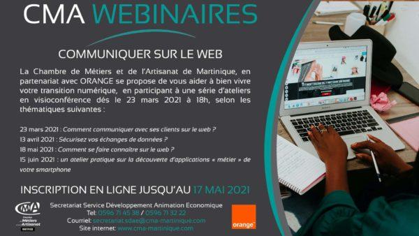 CMA Martinique Atelier numerique 17 05 2021
