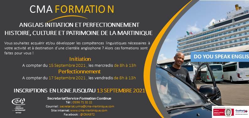 CMA Martinique Formations Anglais Taxi 2021